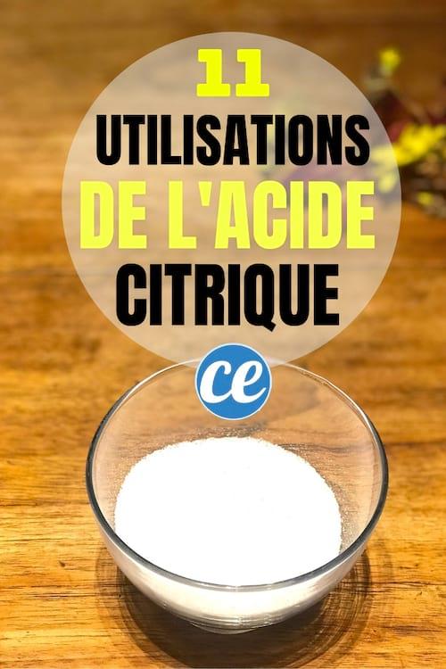 Les utilisations de l'acide citrique dans la cuisine et la maison