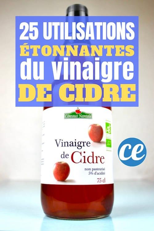Découvrez les 25 bienfaits, remèdes et utilisations du vinaigre de cidre qui vont vous changer la vie.