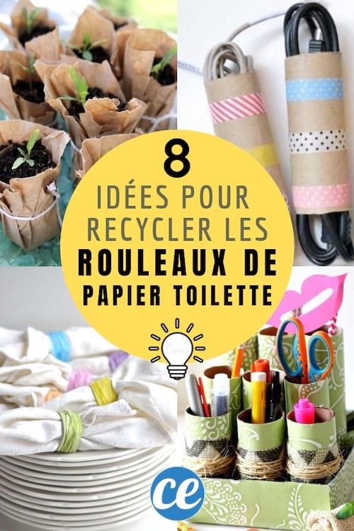 8 façons de recycler les rouleaux de papier toilette