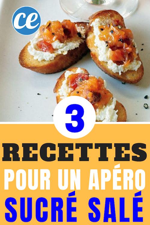 apéro toasts chèvre abricots