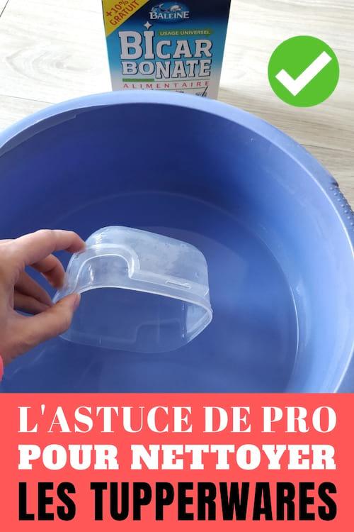 L'astuce pour nettoyer facilement les tupperwares collants et tachés