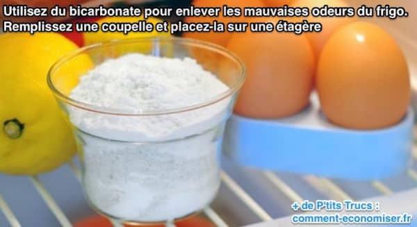 Utilisez du bicarbonate de soude pour éliminer les mauvaises odeurs de frigo