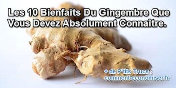 Quels sont les bienfaits du gingembre ?