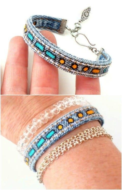 créer des bracelets en jean