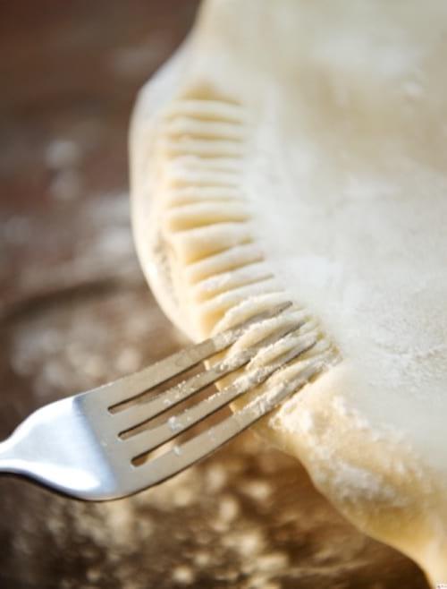 embellir le bord des tartes