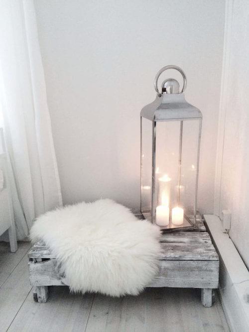 lanterne minimaliste pour déco avec bougie