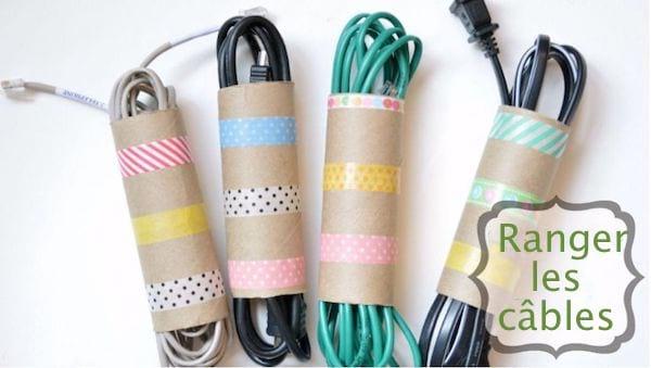 rangement pour cables téléphones