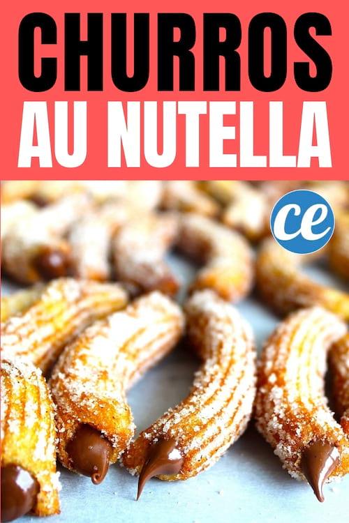 Churros fourrés au Nutella : la recette SIMPLE et Délicieuse sans machine
