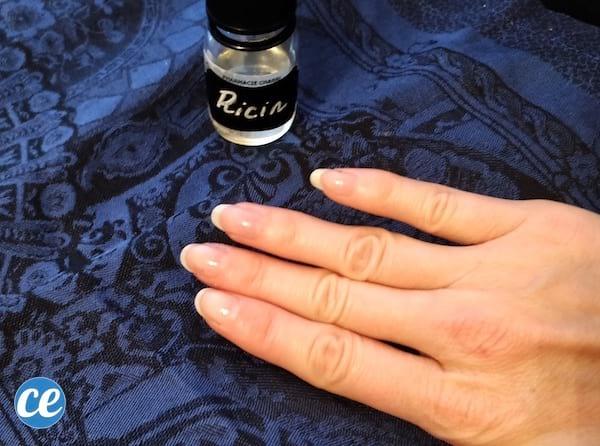 fortifier les ongles avec huile de ricin