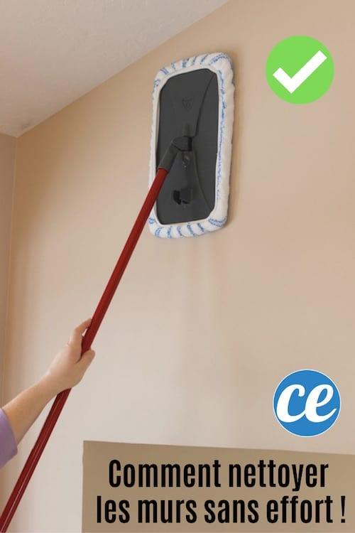 Utilisez un balai à microfibre pour nettoyer les murs de la maison facilement et rapidement