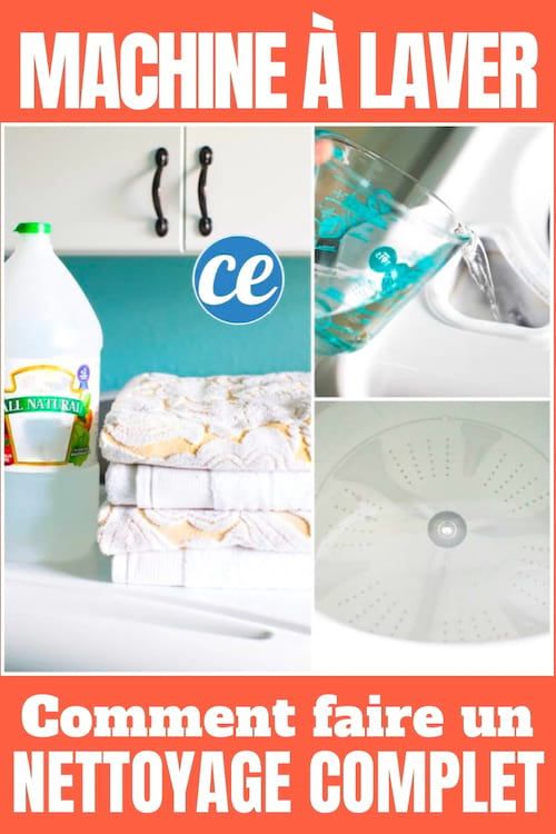 Faites un nettoyage complet de votre machine à laver avec un petit peu de vinaigre blanc.