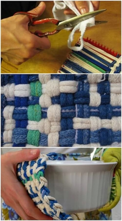 Manique pour la cuisine fait avec des chaussettes recyclées