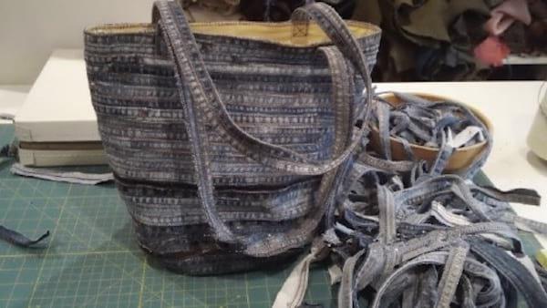 sac de plage en jean diy