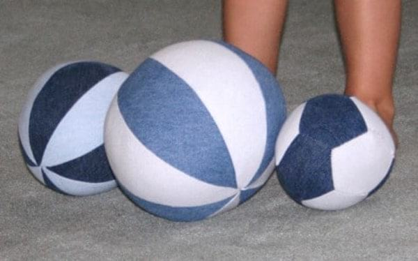 ballon en jean diy