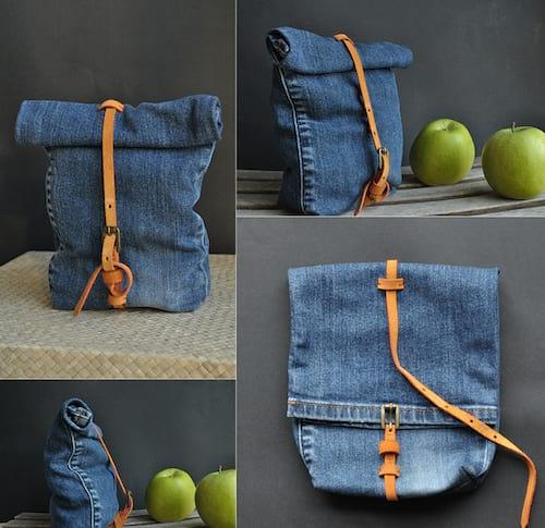 besace diy avec du jean