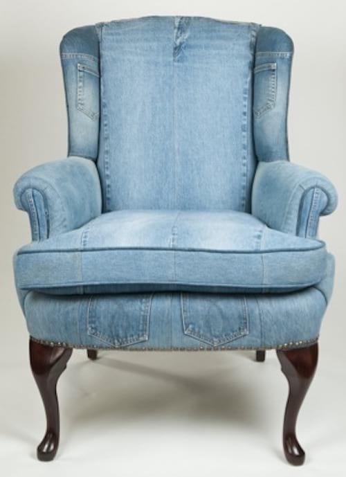 recouvrir un fauteuil avec du jean