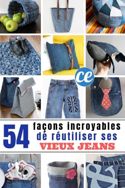 50 Façons Incroyables de Réutiliser Ses Vieux Jeans.