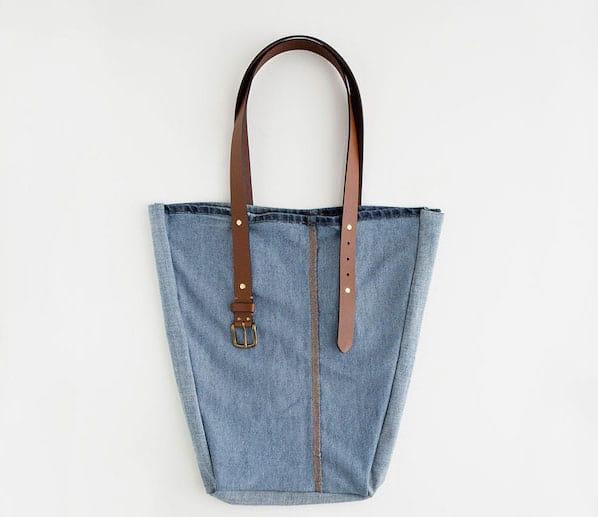 sac à main en jean diy avec ceinture