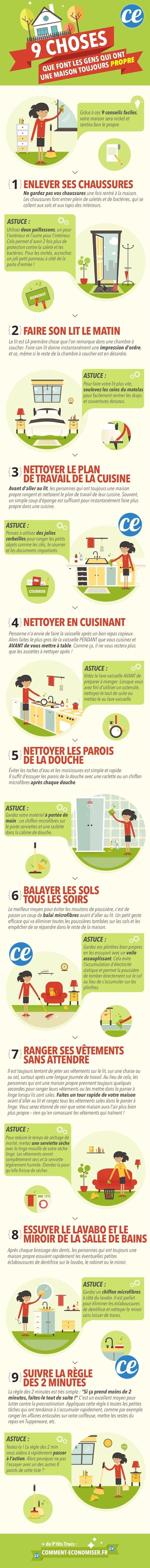 9 astuces pour avoir une maison toujours bien rangée