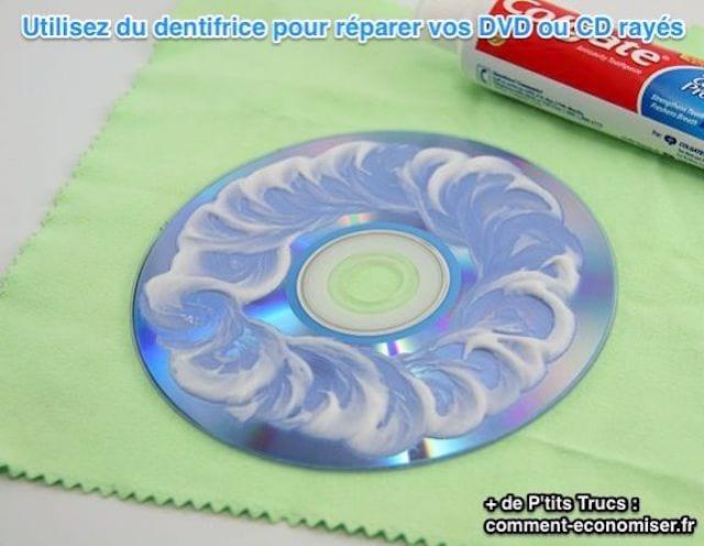 Comment réparer CD ou DVD rayé avec du dentifrice