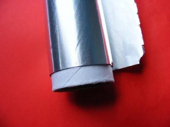 ne mettez pas d'aluminium au micro onde