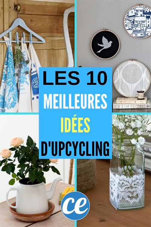 idée de recyclage et d'upcycling pour la déco de la maison