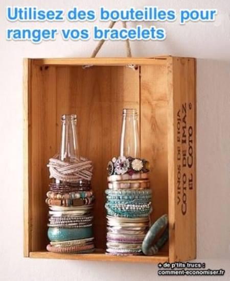 astuce génie ranger bracelets et les voir en même temps
