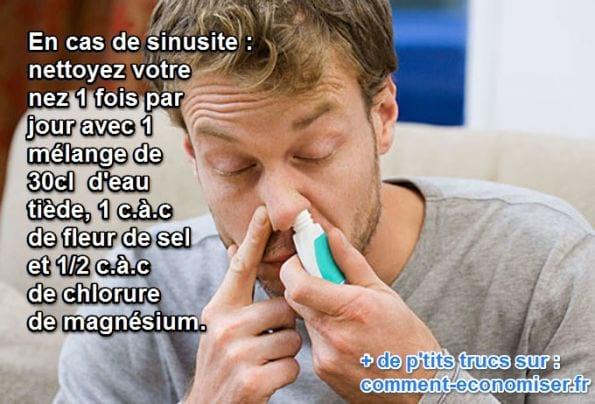 le chlorure de magnésium soulage les sinusites et les rhumes