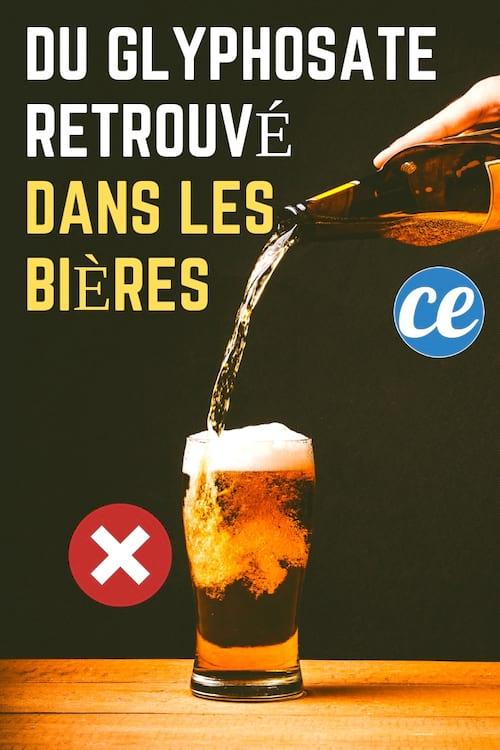 Du glysphosate et d'aurtres pesticides ont été retrouvés dans presque toute les bières