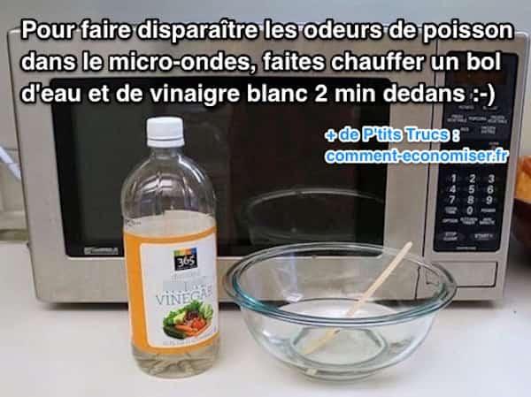 Comment faire disparaître odeurs poisson avec vinaigre blanc
