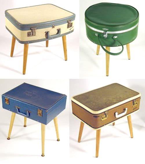 tabouret diy vintage avec valise