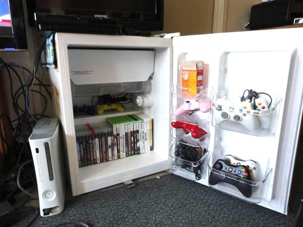 frigo recyclé en placard