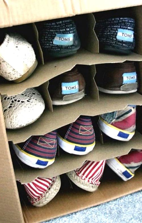 astuces pour ranger les chaussures facilement