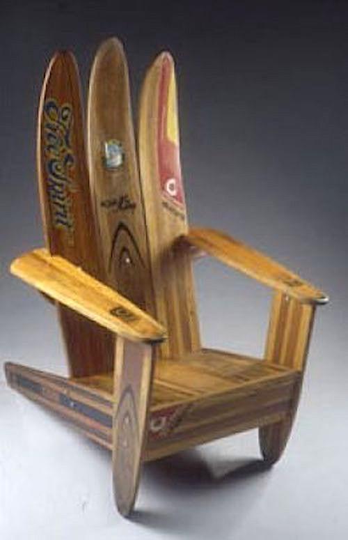 ski nautique recyclés en chaise en bois