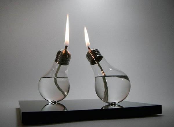 ampoule transformée en bougie