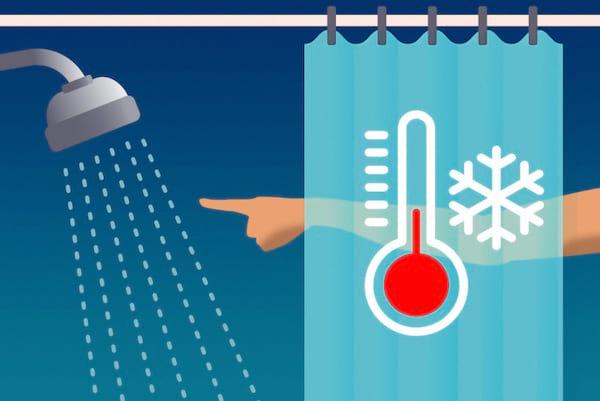Ne jamais prendre de douche froide : une des erreurs les plus courantes lorsque l'on prend une douche.