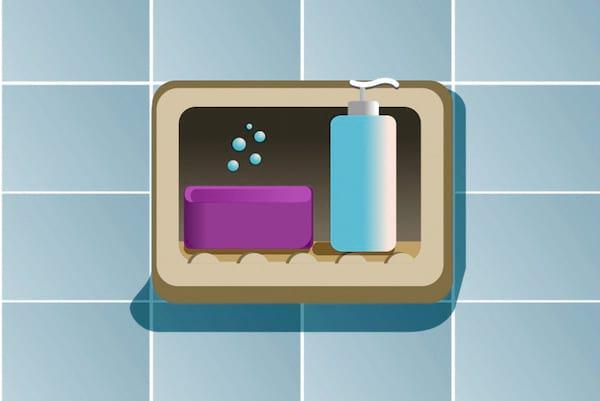 Utiliser un porte-savon est une des erreurs les plus courantes lorsque l'on prend une douche.