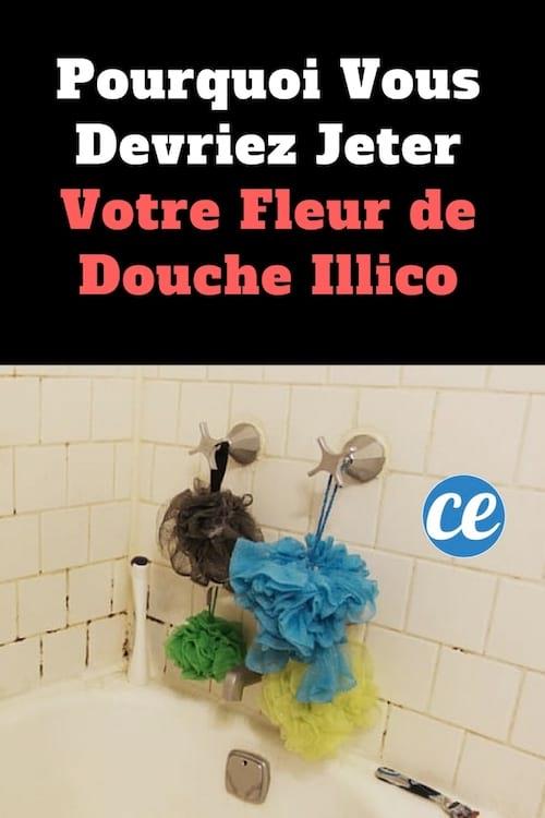 Utiliser la même fleur de douche est une des erreurs les plus courantes lorsque l'on prend une douche.