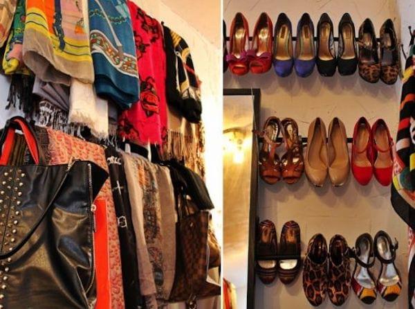 DIY shoe shelves