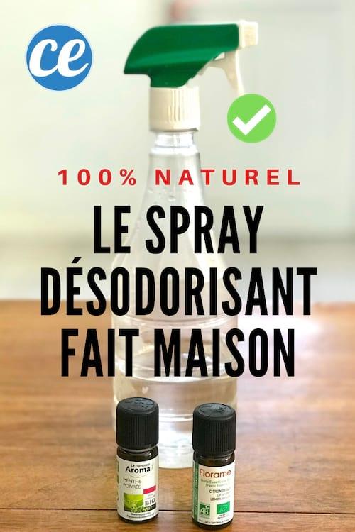 comment je fabrique mon spray d sodorisant 100 naturel en 1 min chrono. Black Bedroom Furniture Sets. Home Design Ideas