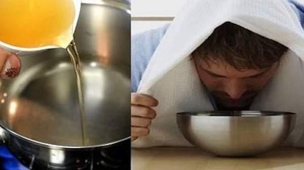 Inhalation au vinaigre de cidre pour se déboucher le nez