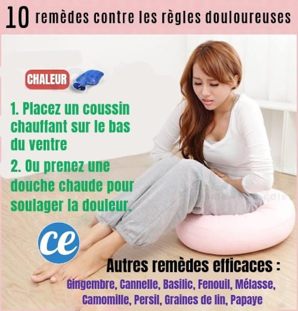 10 remèdes maison pour soulager la douleur des règles