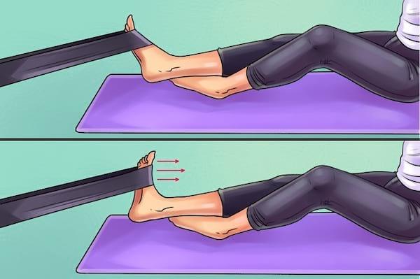 Exercice de résistance pour soulager les douleurs au genou, pied, hanche