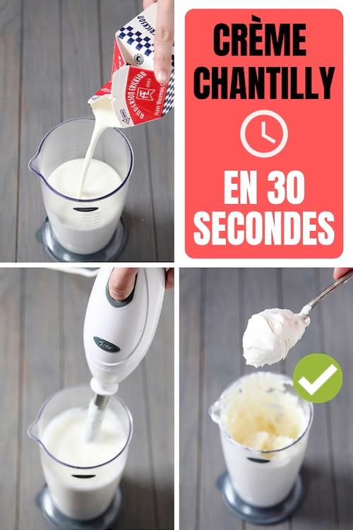 La recette de la crème chantilly ultra facile et rapide en 30 secondes chrono