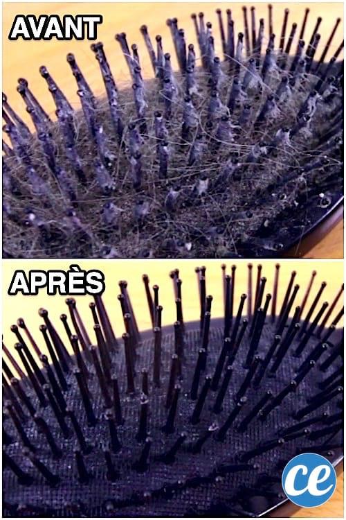 2 astuces faciles pour nettoyer une brosse cheveux toute. Black Bedroom Furniture Sets. Home Design Ideas