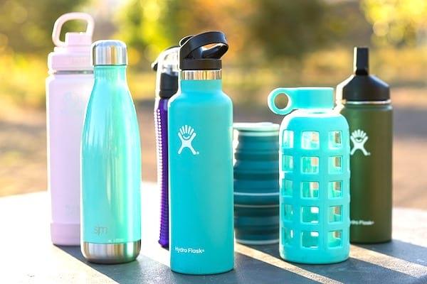 gourde d'eau pour éviter les bouteilles plastiques