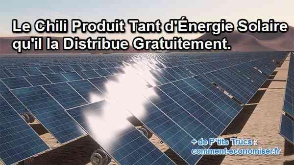 une production d'énergie solaire importante