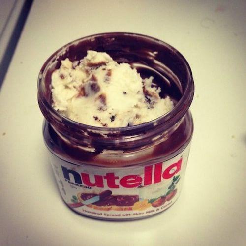 Le truc pour ne pas gâcher du Nutella dans le pot