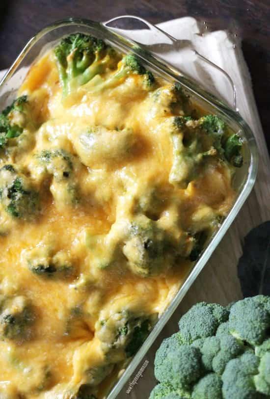 gratin vite fait de poulet brocolis fromage