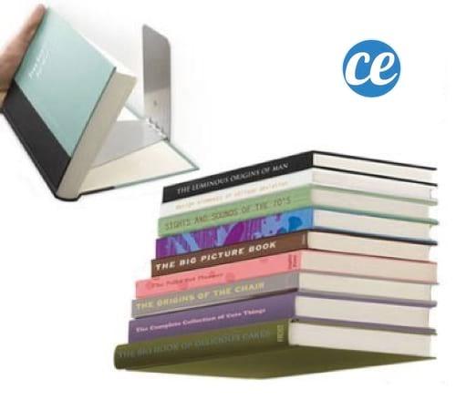 Livres transformés en étagères